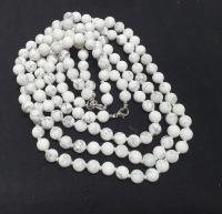 Magnesit Halsketteeinzeln geknotet ca. 8 mm / ca. 50 cm