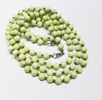 Lemmon Magnesit Halsketteeinzeln geknotet ca. 8 mm / ca. 50 cm