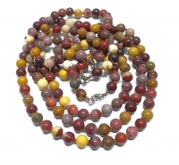 Mookait Halsketteeinzeln geknotet ca. 8 mm / ca. 50 cm