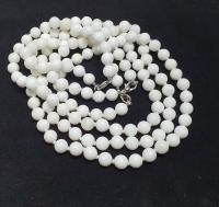 Perlmutt Halsketteeinzeln geknotet ca. 8 mm / ca. 50 cm