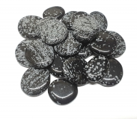 SchneeflockenobsidianScheibensteine / Taschensteine- ca. 500 gr.