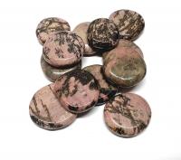 Rhodonit Black Line Scheibensteine / Taschensteine- ca. 500 gr.