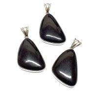 ObsidianAnhängergefasstca. 60 x 30mm