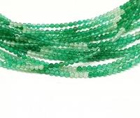 grüner Onyx Kugelstrang facettiert ca. 2 mm/ ca. 42 cm