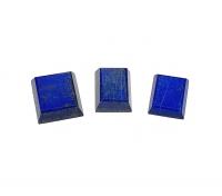 3 x Lapislazuli facettiert in versch. Größen 12,5x15,5 / 13x16 / 16x17,5 mm
