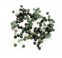 Smaragd Perlen facettiert und gebohrt ca.4 mm / 0,8 Bohrung- Einzelstück