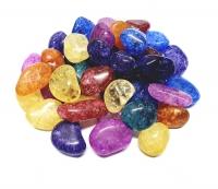 Magic Stones - thermisch farbbehandelte Bergkristall Trommelsteine Größe L oder XL - 1 Kg