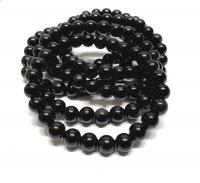 Obsidian schwarz Kugelarmband ca. 8 mm / ca. 19 cm