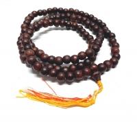 10 x Mala aus Holz Pflaume 108 Perlen ca. 8 mm ca. 80 cm