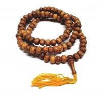 10 x Mala aus Holz Kokos 108 Perlen ca. 8 mm ca. 80 cm