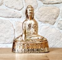 Buddha - Statue mittel aus Bronze (Modell 2) ca. 115 x 90 x 50 mm