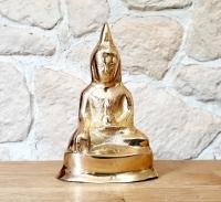 Buddha - Statue mittel aus Bronze ca. 130 x 85 x 50 mm