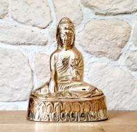 Buddha - Statue groß aus Bronze (Modell 9) ca. 150 x 120 x 70 mm