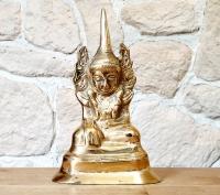 Buddha - Statue groß aus Bronze ca. 185 x 110 x 70 mm