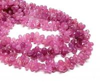 Saphir pink Kettenstrang Pampel facettiert ca. 4x6 bis 5x8 mm/ ca. 40 cm