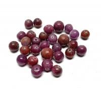 29 gebohrte Rubin Kugeln aus Indien ca. 6-7 mm