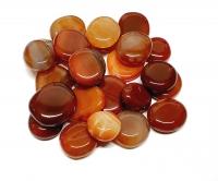 Achat rot behandelt Scheibensteine - ca. 500gr.