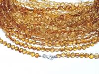 Citrin natur Halskette facettiert ca. 4 mm/ ca. 45 cm mit Silberkarabiner