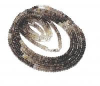 Sillimanit Halskette Rondell ca. 5-6 mm/ ca. 45 cm mit Silberkarabiner