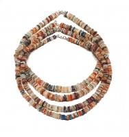 Multicolor Halskette Scheibe ca. 5-7 mm / ca. 45 cm mit 925 Silberkarabiner