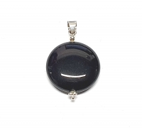 Onyx Anhänger in 925 Silber ca. 40 x 24 mm