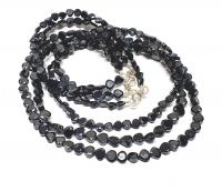 schwarzer Spinell Halskette Herz facettiertca.4-6 mm/ ca. 45 cm mit Silberkarabiner