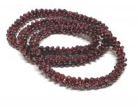Granat Halskette geflochten ca. 9 mm / ca. 80 cm endlos ohne Schließe