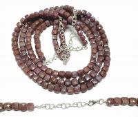 Rubin Halskette mit Disthen facettiert ca. 5-6 mm / 43-49 cm mit 925 Silberkarabiner