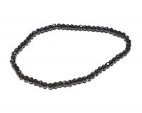 Spinell schwarz facettiertes Kugelarmband ca. 3-4 mm / ca. 18-19 cm