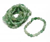 Aventurin grün Nuggetarmband ca. 6-8 mm / ca. 19 cm