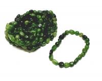 Kanada Jade Armband Nugget ca. 6-8 mm / ca. 19 cm