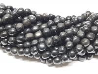 Obsidian Nuggetstrang ca. 8-9 mm / ca. 40 cm