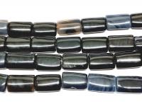 Achat schwarz Rechteckstrang gewölbt 15x24mm / ca. 40 cm
