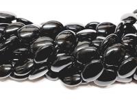 Obsidian Ovalstrang gerundet ca. 13 x 18 mm / ca. 40 cm