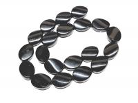 Obsidian Ovalstrang gedreht ca. 15 x 20 mm / ca. 40 cm