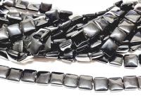 Obsidian Kissenstrang ca. 12 x 12 mm / ca. 40 cm