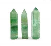 Fluorit grün - Spitzen poliert ca. 55 - 80 gr. / st.