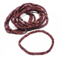 Rubin Natur Buttonarmband ca. 4-5 mm / ca. 19 cm