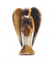 Engel aus Tigerauge graviert ca. 100 x 60 x 27 mm- Einzelstück
