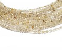 Goldrutilquarz Kugelstrang facettiert ca. 2 mm/ ca. 42 cm