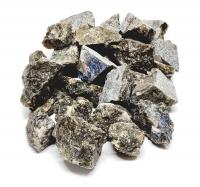 Labradorit Deko Chips Rohsteine / teils mit Schnittkante ca. 20-40 mm aus Madagaskar - 1 Kg