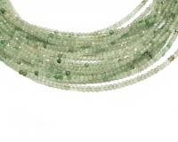 grüner Achat Kugelstrang facettiert ca. 2 mm/ ca. 42 cm