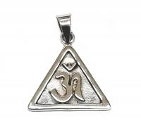 OhmAnhänger Dreieckform aus 925 Silber ca. 32 x 25 mm