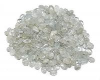 100 Gramm Aquamarin Perlen olive gebohrt von ca. 6x4 bis 11x7 mm