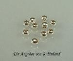6 x Kugeln mit großem Loch in 925 Silber - 8,0 mm