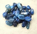 Streifenachat Blau (gef.) Trommelstein VE = 500 gr.