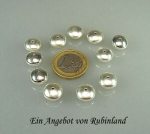 Linsen 11,0 mm aus 925 Silber mit kleinem Loch im 3er Pack