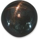 Sterndiopsid rund Cabochon Schwarz - ca. 6,5 - 7,0 mm