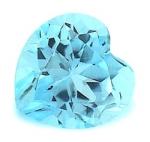 blauer Topas - Herz facettiert - ca. 5 x 5 mm