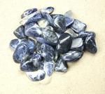 Sodalith Trommelsteine aus Brasilien VE = 500 gr.